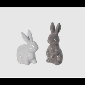 Ceramic salt & pepper bunnies